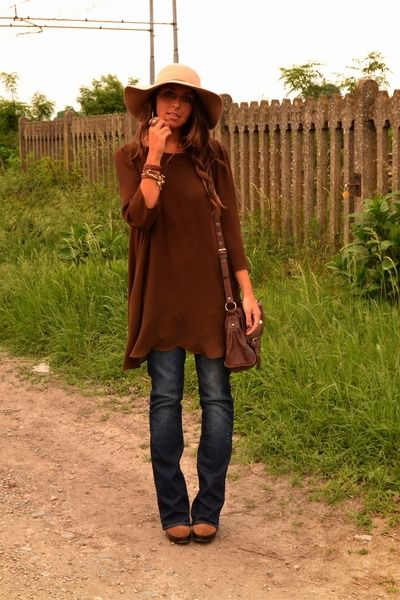Brown-boots-urban-outfitters-boots-dark-brown-dress-zara-dress-navy-jeans-h-