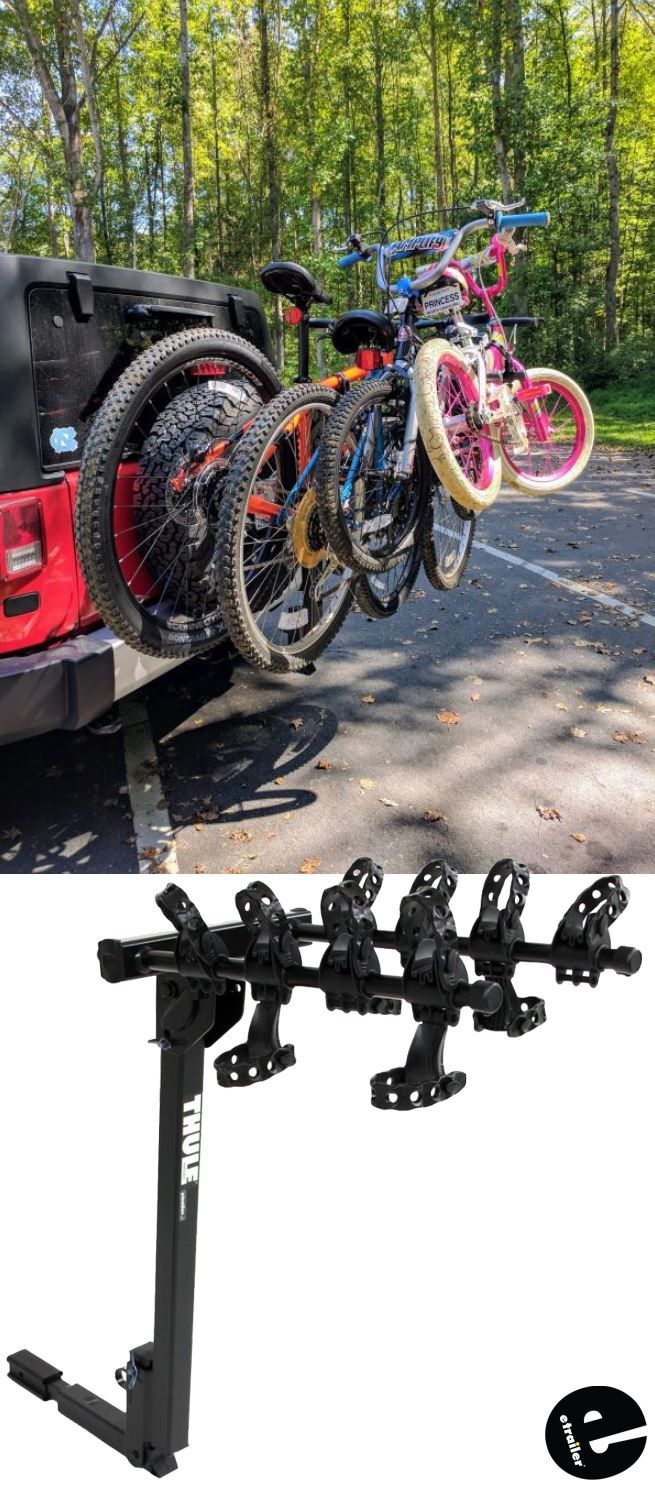 Thule Hitching Post Pro Folding Tilting 4 Bike Rack W Anti Sway