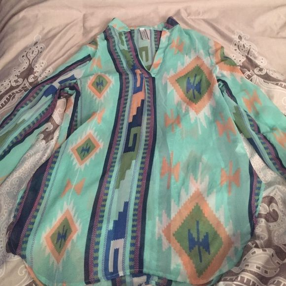 Giddy up glamour sheer top Giddy up glamour sheer top size small Giddy up glamour Tops Blouses