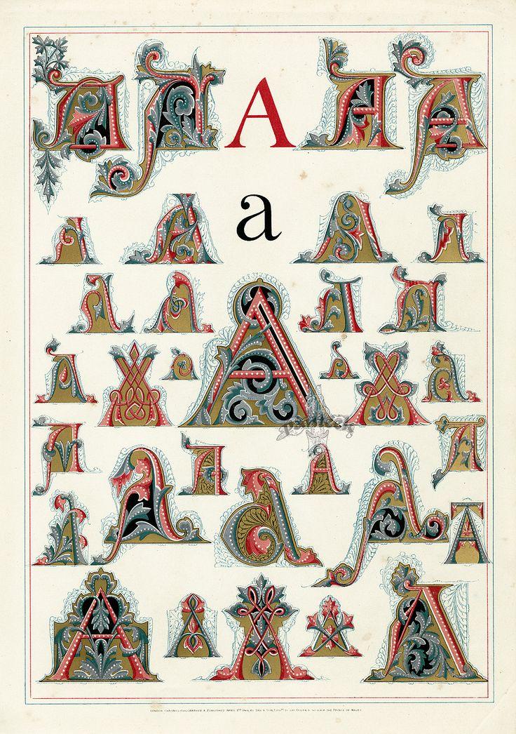 Owen Jones Alphabet 1864