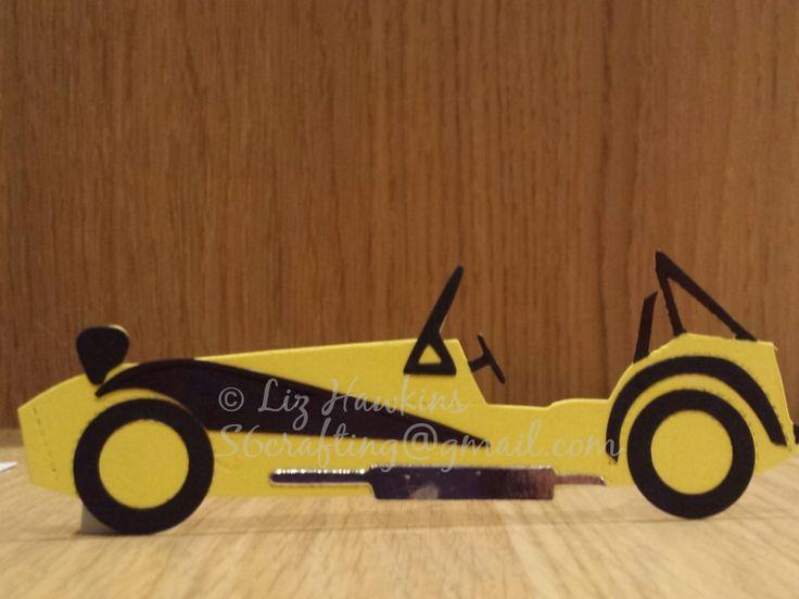 Custom caterham 7 card clamshell wings toy car