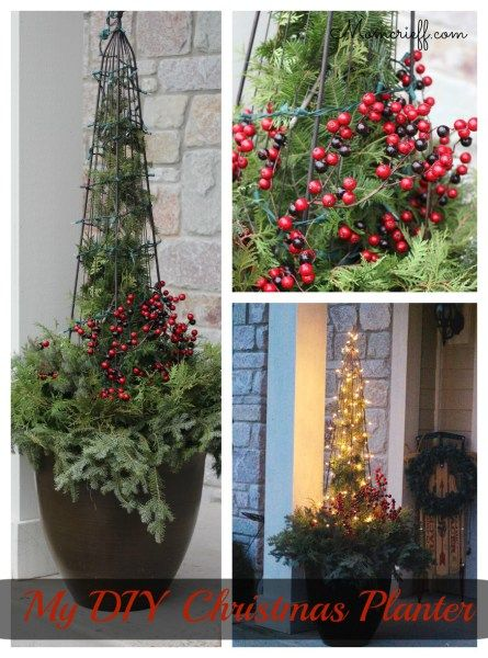 40 best christmas front porch images on pinterest christmas dcor easy diy christmas planter solutioingenieria