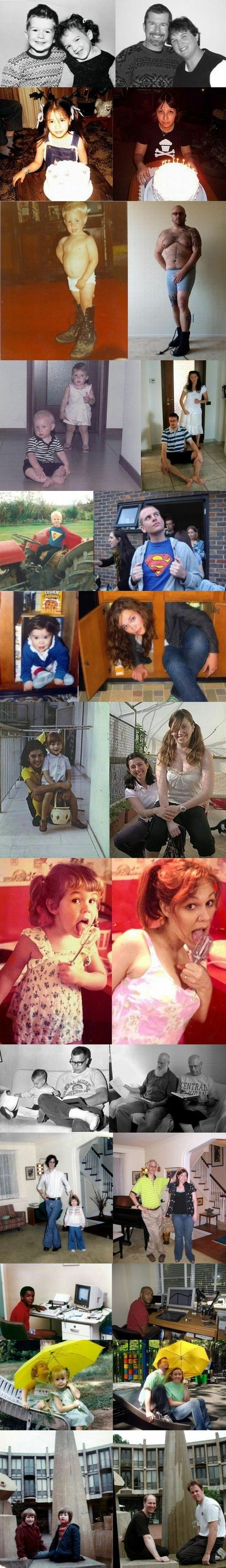 LOVE this idea of recreating childhood photos ... what a fun gift idea this would be!!! :)