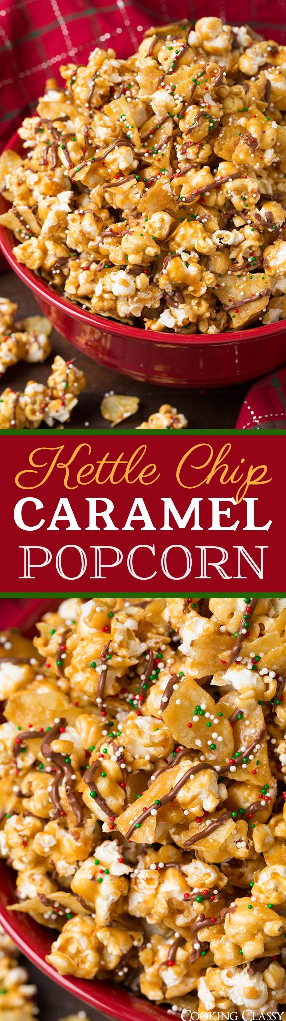 Kettle Chip Caramel Popcorn - sweet and salty and perfectly crunchy! Absolutely love this stuff!! No one could resist it! #kettlebrand #spon