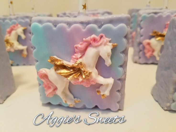 Unicorn themed rice krispy treats