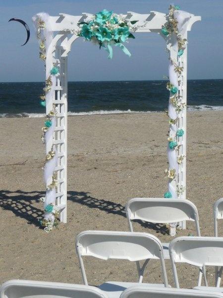 Arbor Chuppah Urns Floral Wreaths and Sprays Wedding Reception Photos on WeddingWire