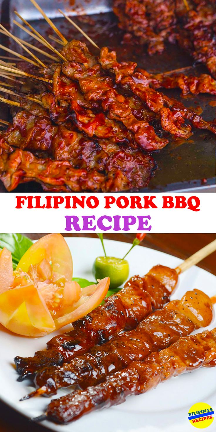 The Filipino Pork Barbecue is everyone's favorite where the skewers are grilled on fire right in front of you.