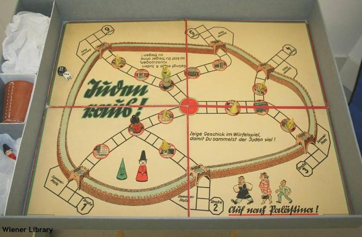 'Juden Raus' or 'Jews Out' - an antisemitic board game produced by German company Gunther & Co.