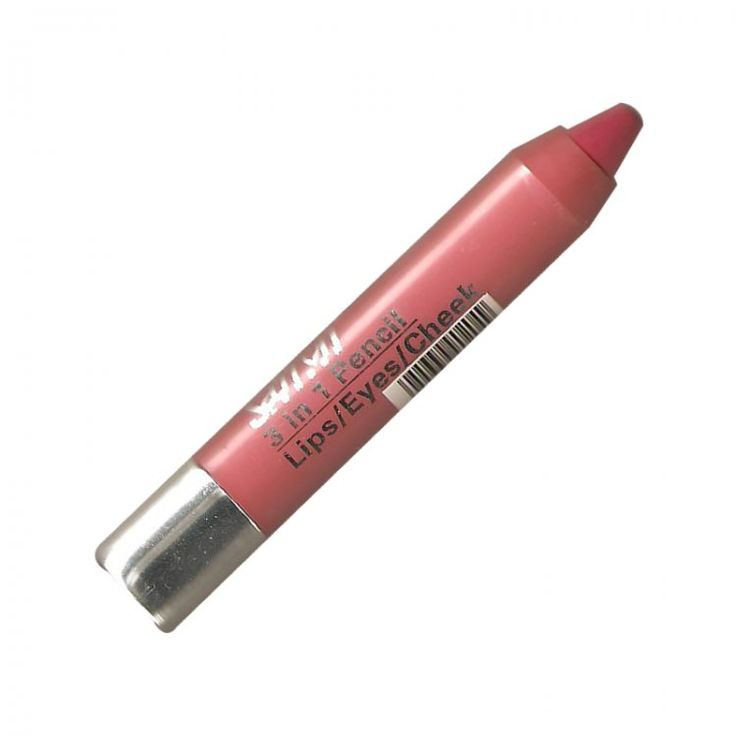 Saffron 3 in 1 Twist up Crayon - Hot Pink, Saffron's 3 in 1 chubby crayon is Ideal for eyes, lips and face. - Love makeup, love our low prices, view our wide range of products from Saffron Cosmetics Collection. Postage starts from only 75p (UK Onl