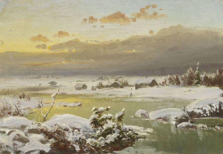 Winter Landscape, ca. 1878 - oil on canvas, lined - Talvimaisema, n. 1878 – öljy kankaalle, vuorattu – Churberg, Fanny (1845-1892), Ateneumin taidemuseo