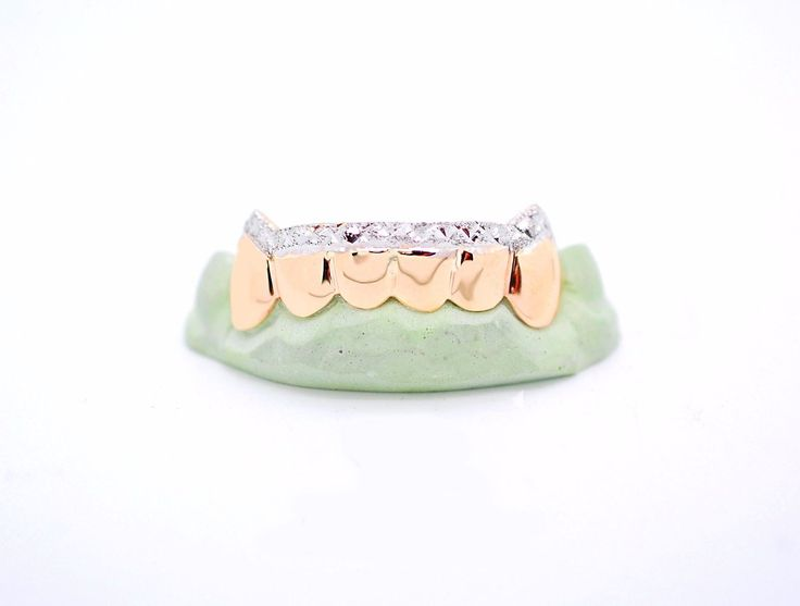 Grillz Dental Grills 152808: Custom 10K Gold 14K Plated Silver Gold Grillz Diamond Dust Cut Tip Grill Fangz BUY IT NOW ONLY: $119.99
