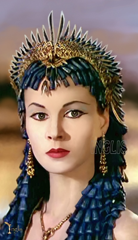 Artist model of Vivien Leigh as Cleopatra in Caesar Cleopatra.