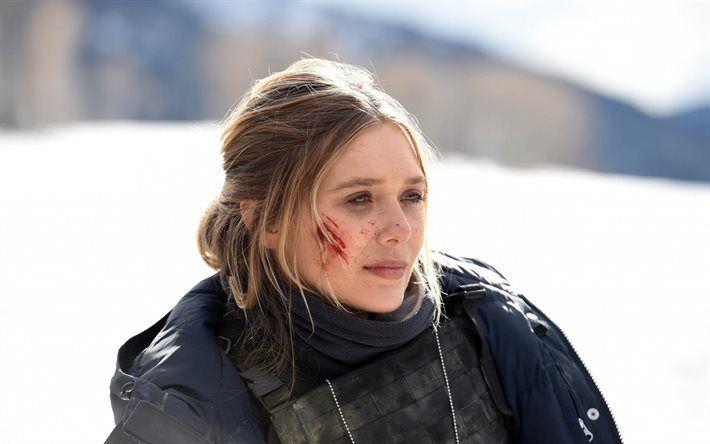 Indir duvar kağıdı Wind River, 2017, Elizabeth Olsen, Jane Banner, Yeni filmler