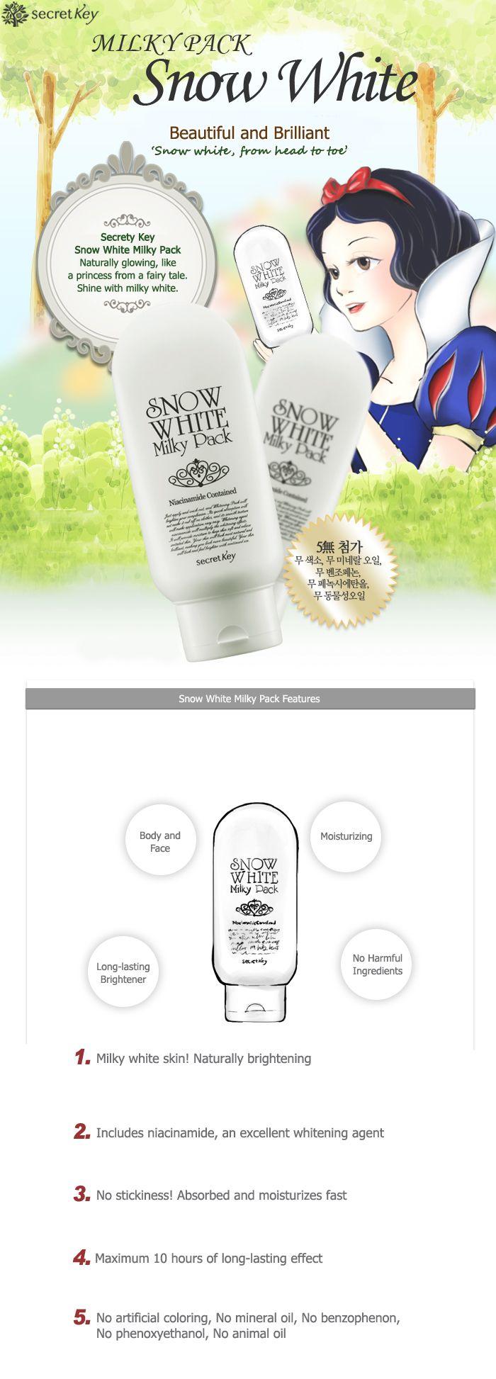 secretKey - Snow White Milky Pack 200g