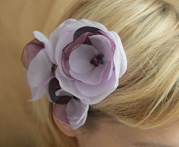 3 Lilac Purple Flowers For Bride Bridesmaids And By