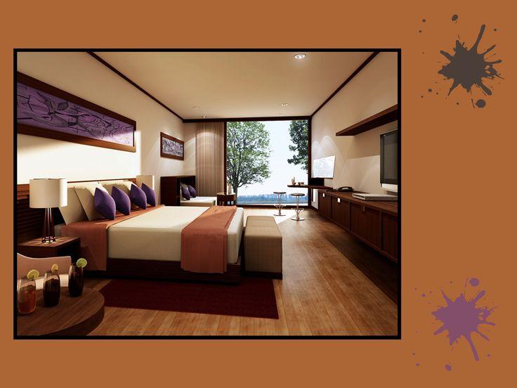 Caramello, cioccolato e prugna: una tavolozza incredibilmente sensuale, che si sposa bene sia in un soggiorno, che in una camera da letto. Seducente come ambiente, non credi anche tu?  #brown #palette #colourfull #bedroom #interiordesign