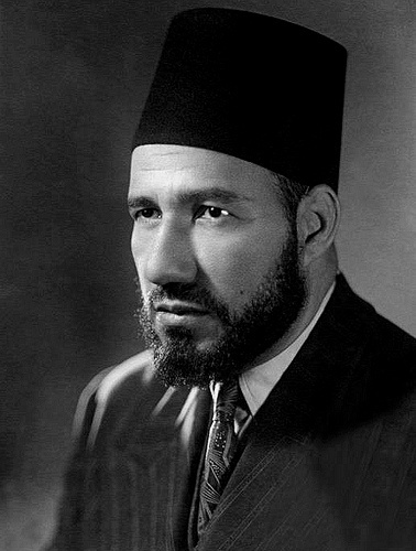 Hassan al-Banna founder of the Muslim Brotherhood, born in Mahmudiya, Egypt, 1906