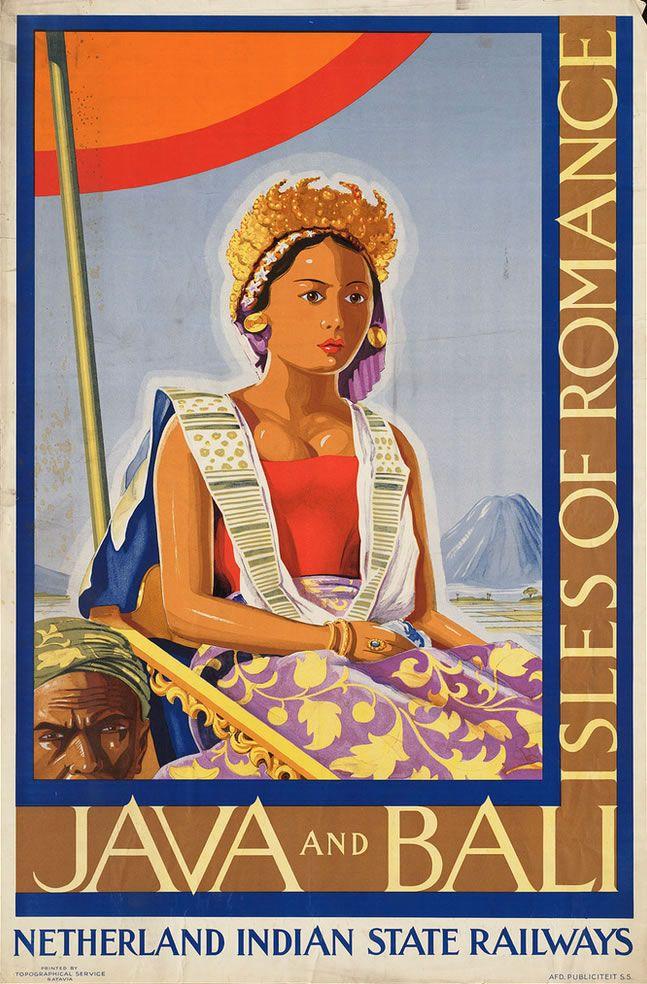 Vintage travel poster - Indonesia www.emporiumhanoi.com #travel #poster #vintage…