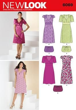 New Look 6069 Misses' Dresses Patterns