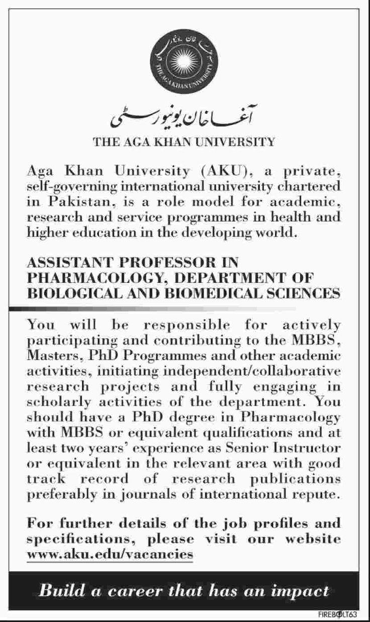 The aga khan university karachi jobs 12 march 2017