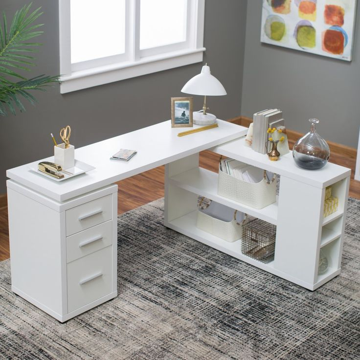 Hudson L Shaped Desk White Home The O 39 Jays And Gray
