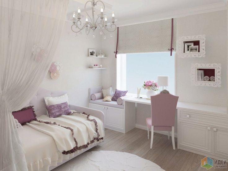 Afbeeldingsresultaat voor детская комната для девочки фиолетовая