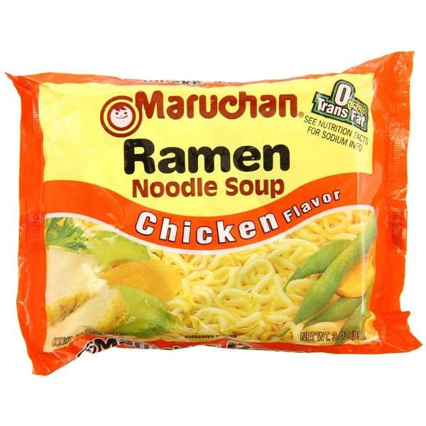 Maruchan Ramen Noodle Soup, Chicken Flavor, 3 oz, 36 Packs ($16) ❤ liked on Polyvore featuring food, food and drink and food & drinks