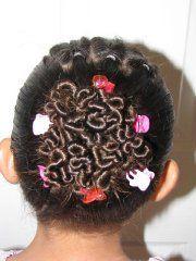 Worm style gymnastic hair