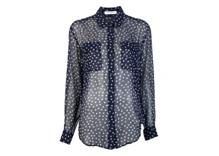 perfect for #4thofJuly @equipment star signature blouse denim.