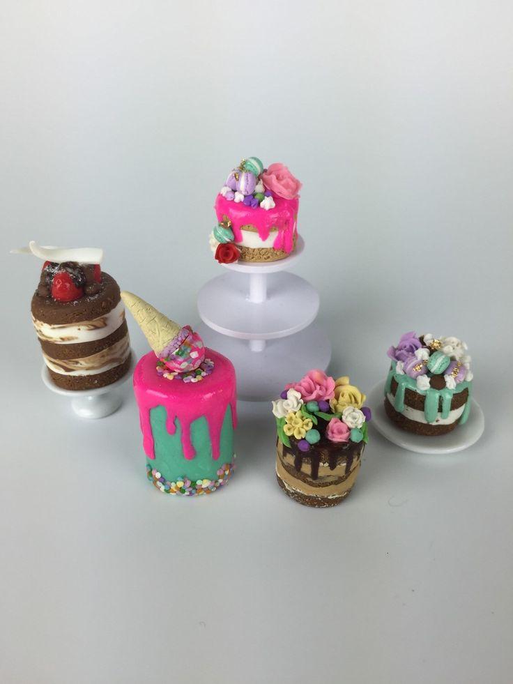 Miniature Custom specialty dollhouse cakes  by PetiteBoulangerieAU on Etsy https://www.etsy.com/listing/235349758/miniature-custom-specialty-dollhouse