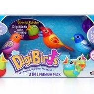 Set trei pasari interactive DigiBirds - varianta 1