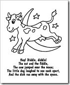 hey diddle diddle coloring page - 10 best nursery rhymes images on pinterest nursery