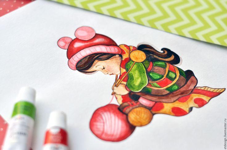 Купить Акварельная иллюстрация (на продажу) - комбинированный, иллюстрация, детская иллюстрация, акварель, акварельный логотип