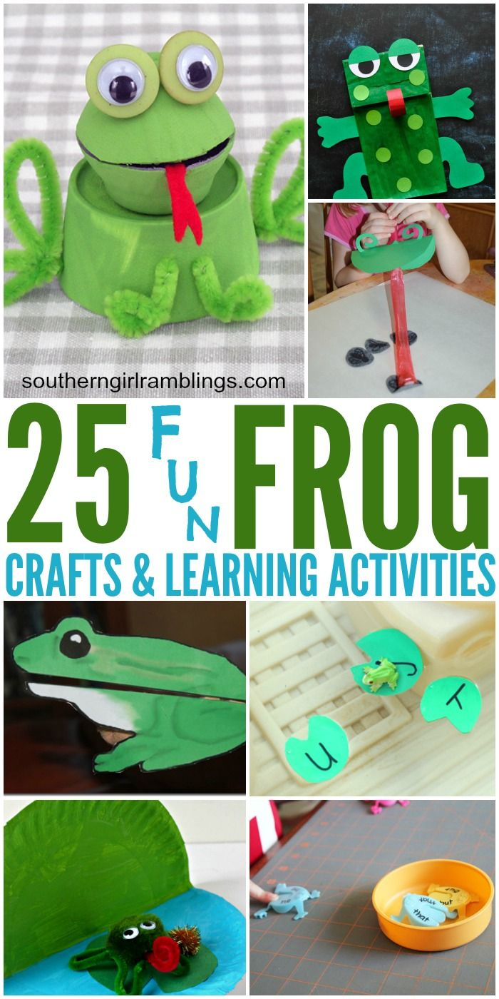 These 25 Frog Crafts and Learning Activities for kids are perfect for the classroom or at home!