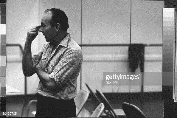 News Photo : Choreographer George Balanchine during break in...