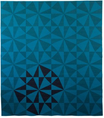 Denyse Schmidt----Shoeman's Puzzle pattern I love the change in color to create a secondary pattern and focal point