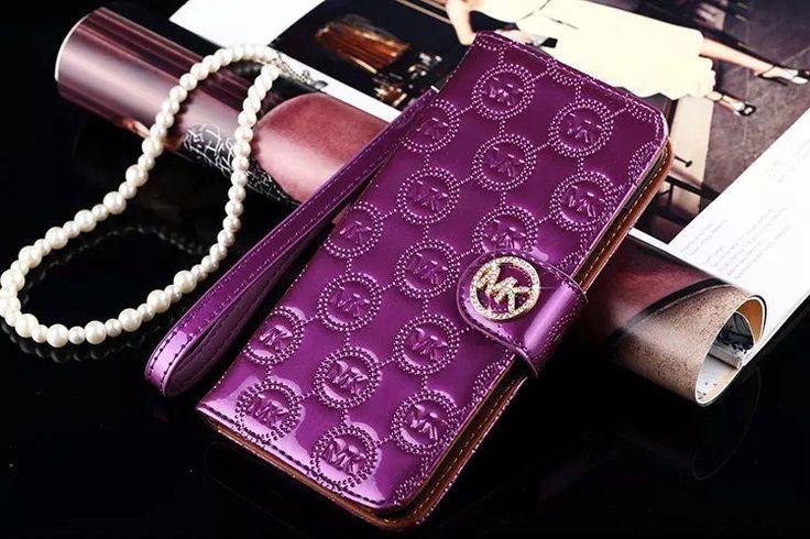 coque Étui Michael cole portefeuille mobile iPhone 7 cas violet