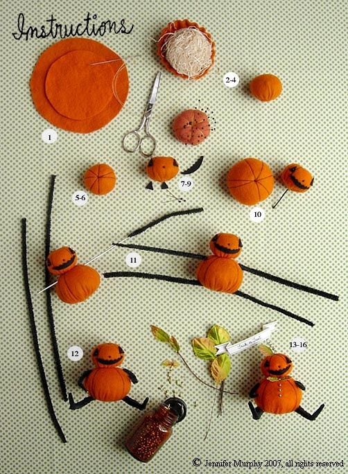 Jennifer Murphy Pumpkin Instructions- make one of these a few years ago. they are SO FUN!