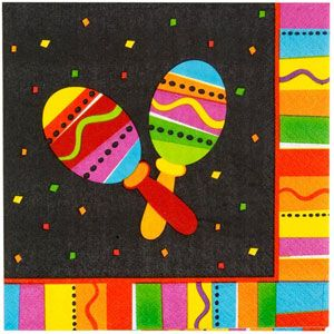 A519820 - Fiesta Fun Luncheon Napkins. Luncheon Napkin Fiesta Fun (33cm x 33cm) 2 Ply - Pack of 16. Please note: approx. 14 day delivery time.