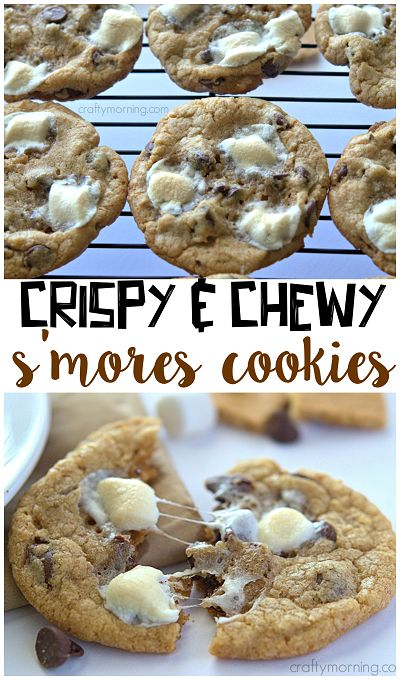 S'mores cookies -- Very yummy. Toddler approved.