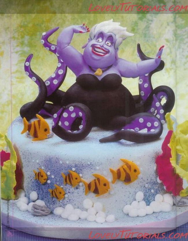 Ursula  cake topper step by step