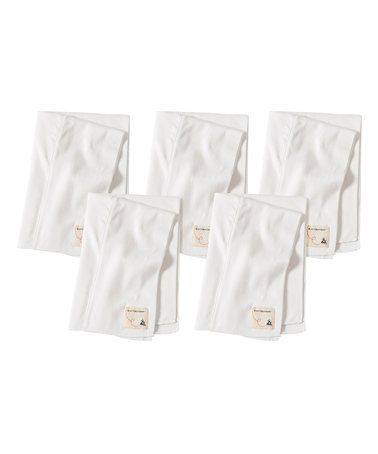 Look what I found on #zulily! Cloud Organic Burp Cloth - Set of Five by Burt's Bees Baby #zulilyfinds