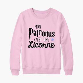 """Pull Sweat Harry Potter """"Mon patronus c'est une licorne"""""""