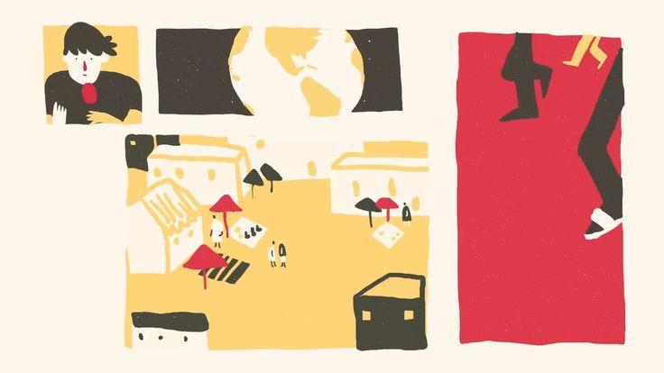 À l'occasion du Petit Journal entièrement animé spécial festival d'Annecy. Réalisation du reportage de Martin Weill…