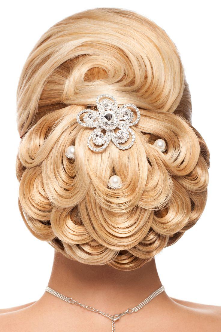 idées coiffure mariage avec pic à chignon