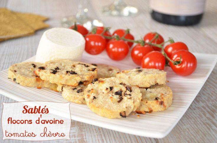 Sablés tomates séchées chèvre flocons d'avoine, recette parfaite pour l'apéritif. Très savoureux et préparés en un tournemain. Pratique, sain et rapide !