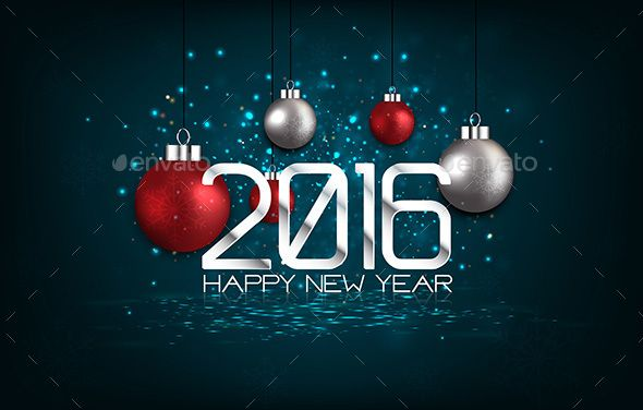 Happy New Year 2016 Vector EPS, AI #design Download: http://graphicriver.net/item/happy-new-year-2016/13838461?ref=ksioks