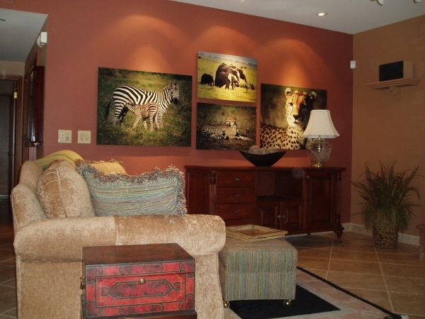 Jungle Living Room Ideas | Safari Artwork And Warm Colors Click Here For  More Info Safari