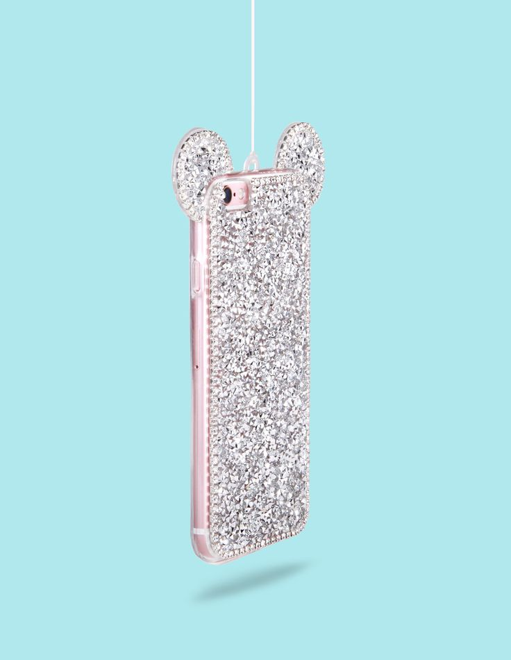 Our Crystal Clear Pixie Mouse Ears iPhone Case will sparkle as if it were pixie dust. Not one for the faint of heart this bold and sparkly case is all ears! - Protective iPhone Case - Lanyard necklace