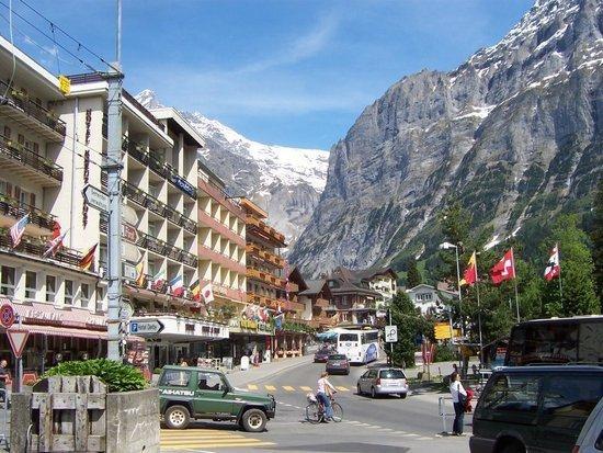 Grindelwald, Switzerland - Stayed at the hotel Kreuz & Post on the left.